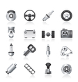 Different kind of car parts icons Royalty Free Vector Image