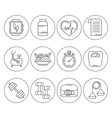 Set of flat design sport icons isolated Royalty Free Vector