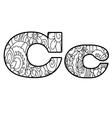 Floral letter c ornament font Royalty Free Vector Image