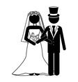 Cartoon wedding couple Royalty Free Vector Image