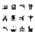 Bathroom equipment set icon Royalty Free Vector Image