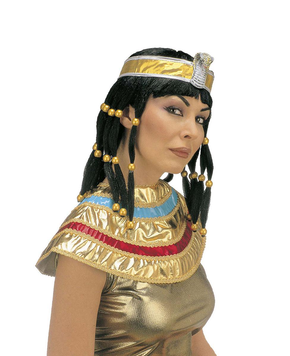 Kleopatra Percke mit Haarband fr Erwachsene Percken