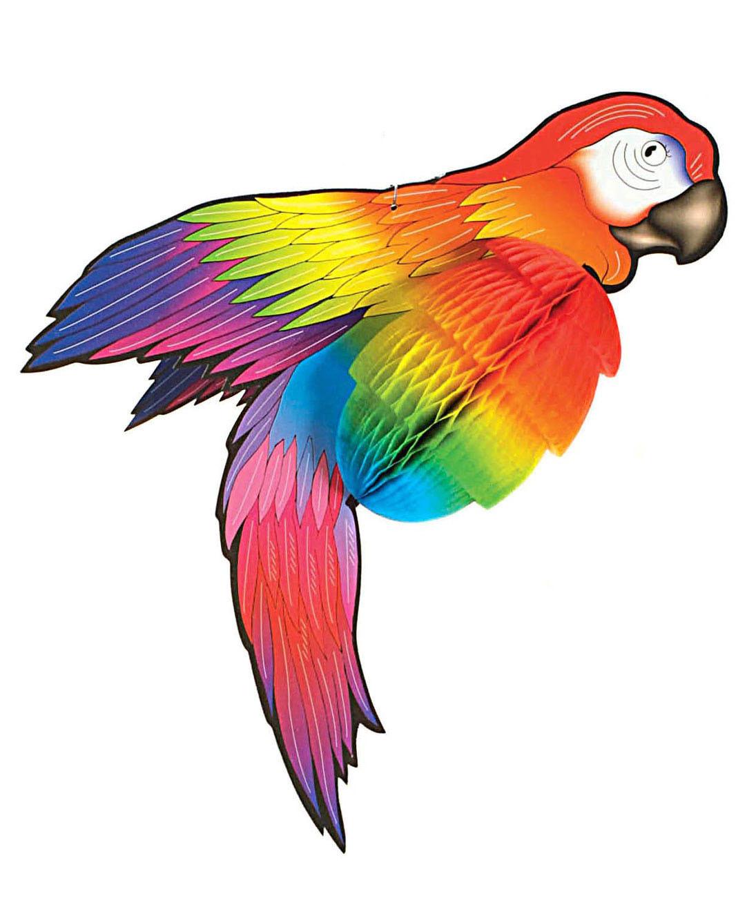 Papagei Deko aus Papier  Dekoideen von VEGAOO