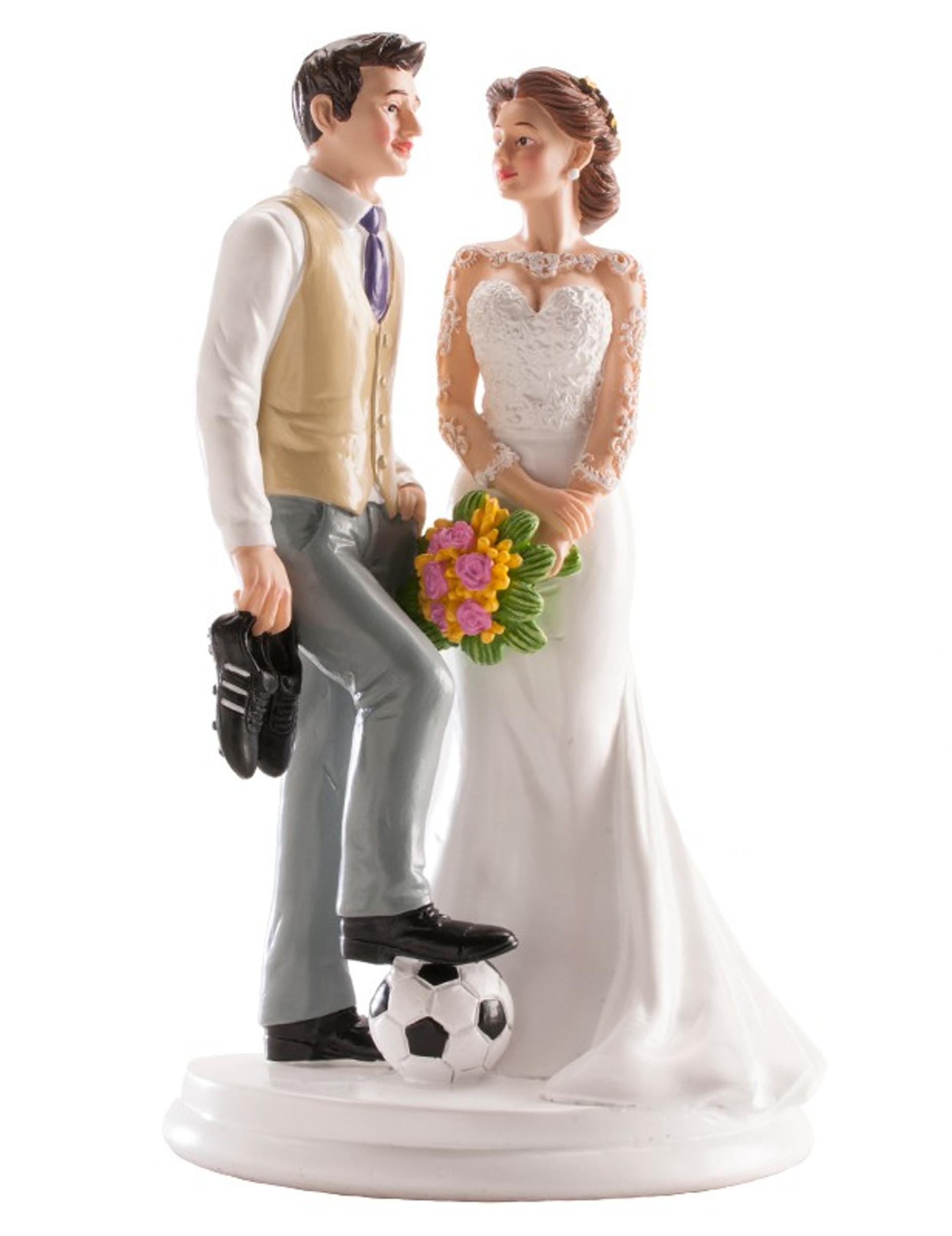 Fussball Brautpaar Figur fr Torte Partydekound gnstige