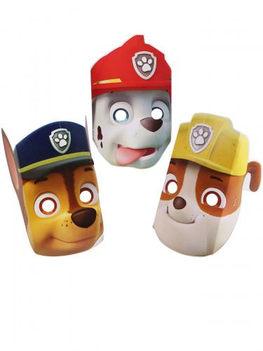 8 Paw Patrol Masken-Set aus Pappkarton Maskenund