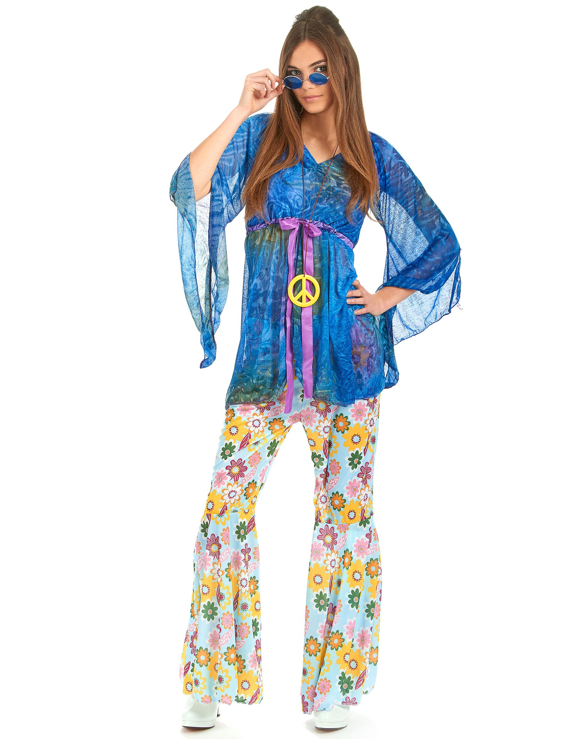 Disfraz de hippie estilo flower power para mujer Disfraces adultosy disfraces originales baratos  Vegaoo