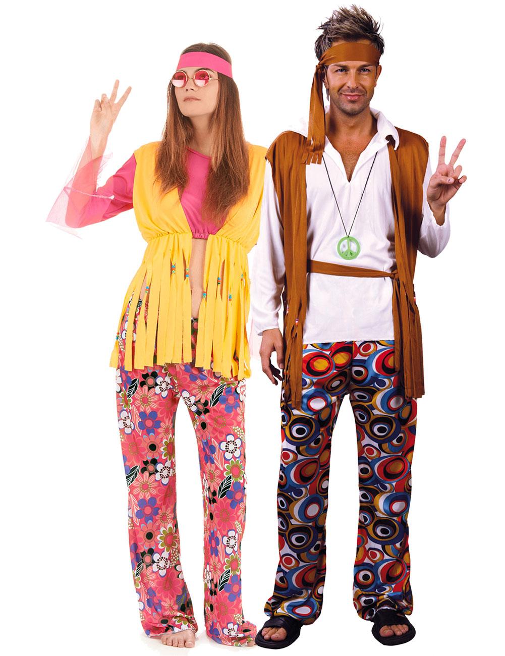 Disfraz De Pareja De Hippies Disfraces Parejasy