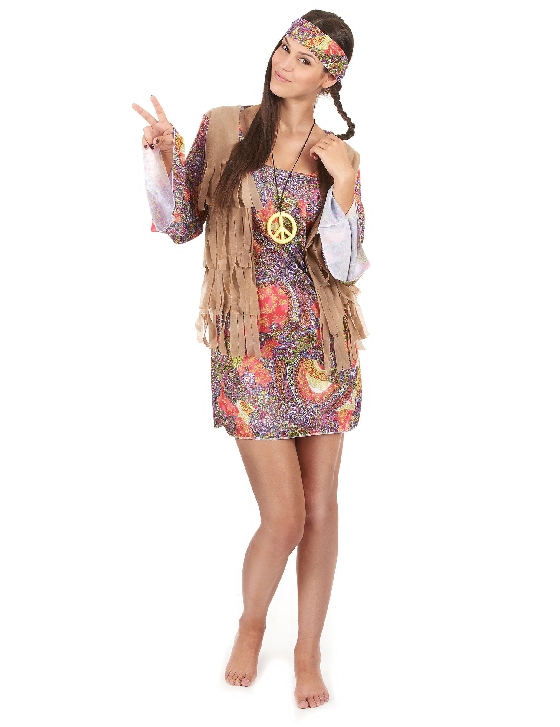 Disfraz de hippie mujer Disfraces adultosy disfraces originales baratos  Vegaoo