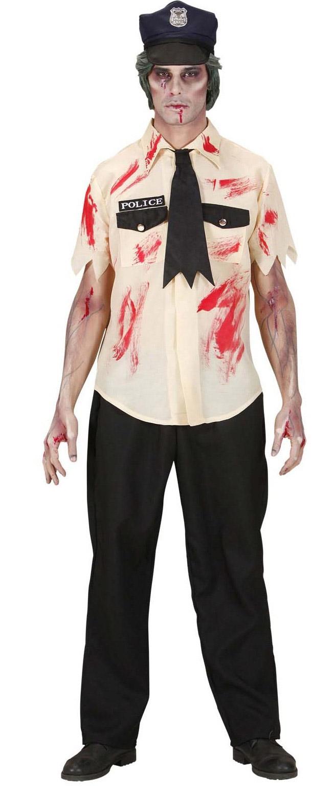 Disfraz Halloween zombie polica hombre Disfraces adultos