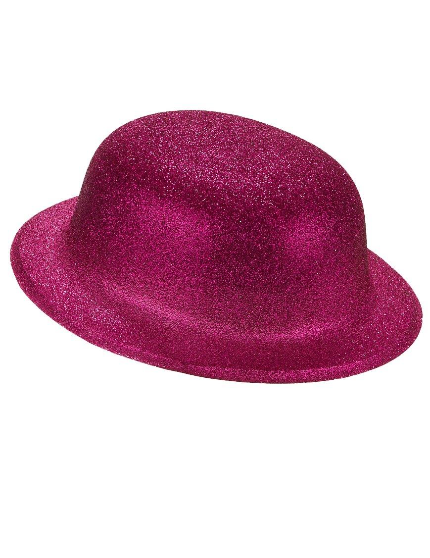 sombrero bombín brillante rosa adulto sombrerosy