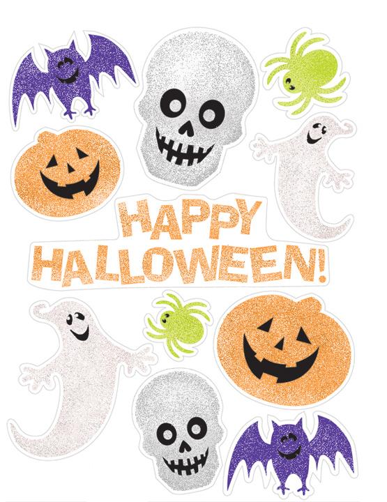 Decorazioni adesive Halloween per finestra Addobbie vestiti di carnevale online  Vegaoo