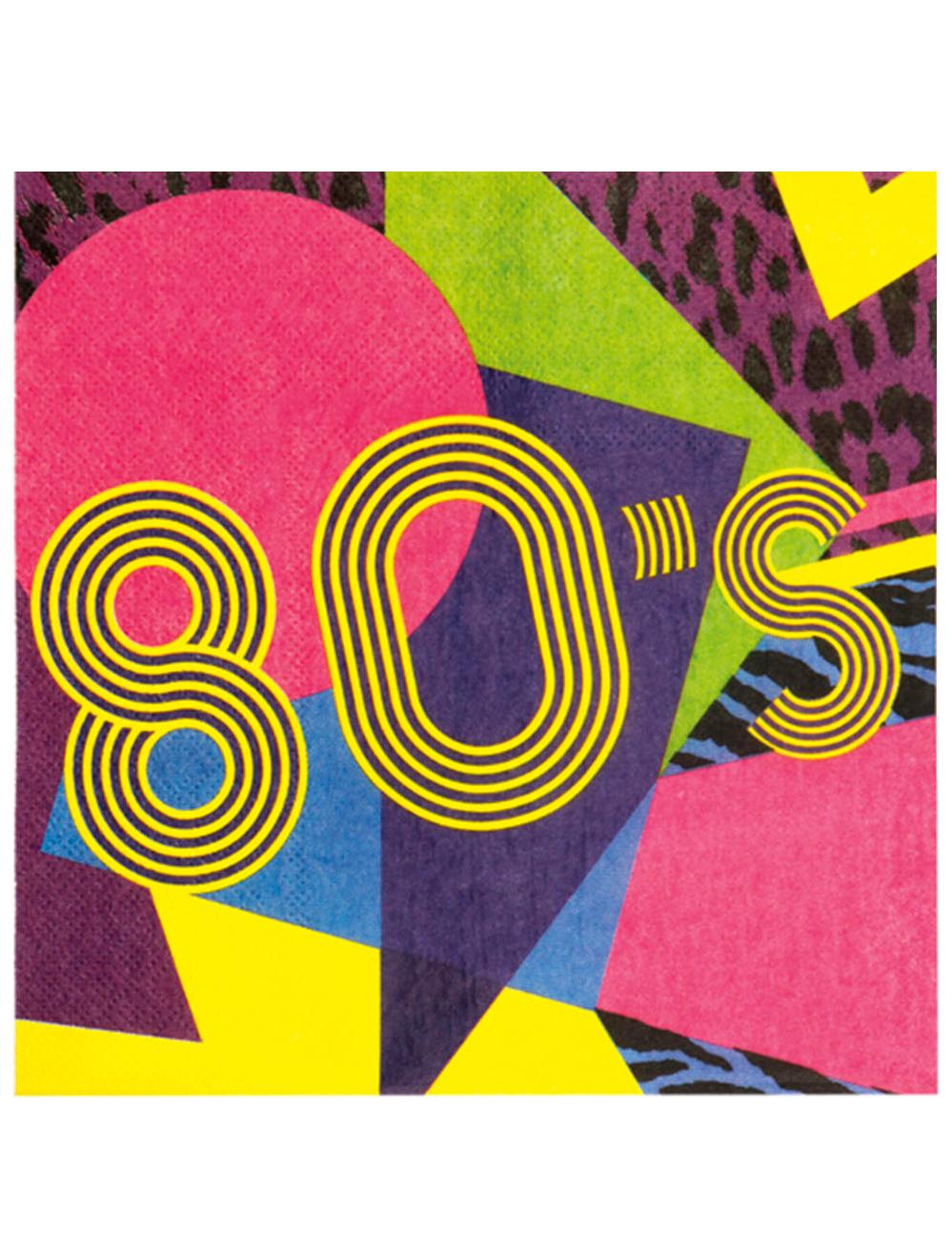 12 tovaglioli di carta anni 80 Party Addobbie vestiti di carnevale online  Vegaoo