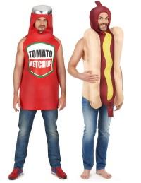 Costume coppia hot dog et ketchup adulto: Costumi coppia,e ...