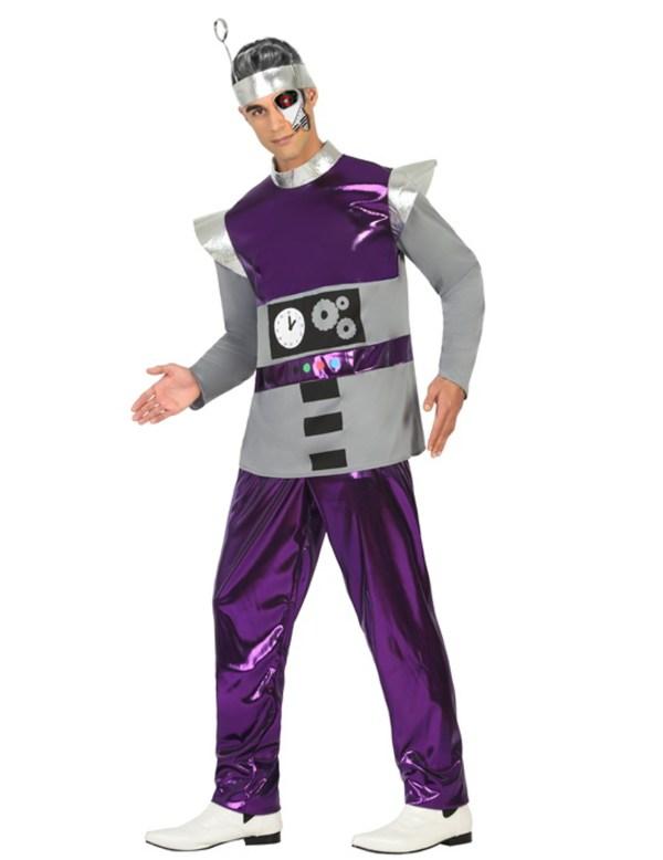 Costume Robot Viola Uomo Costumi Adulti Vestiti Di