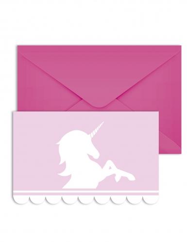 6 cartons d invitation avec enveloppes licorne pastel 14 x 9 cm
