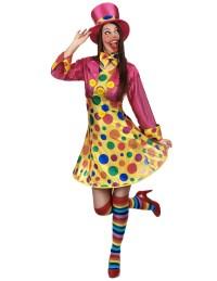 Costume pagliaccio con cappello da donna su VegaooParty