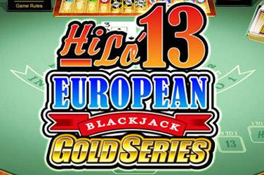 Hi-Lo 13 European Blackjack Gold