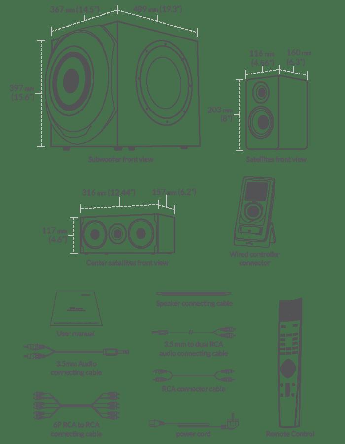 Edifier 5.1 Surround Sound System S760D price in pakistan