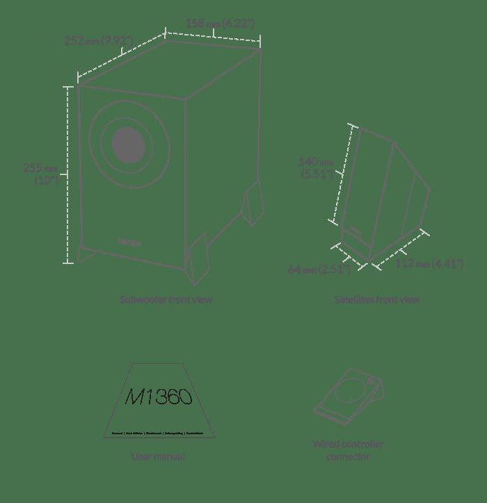 M1360 2.1 Multimedia Speaker and Subwoofer System