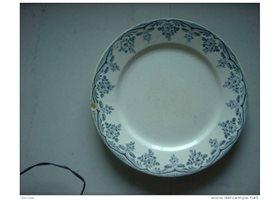 assiette plate ancienne boulenger terre de fer articles