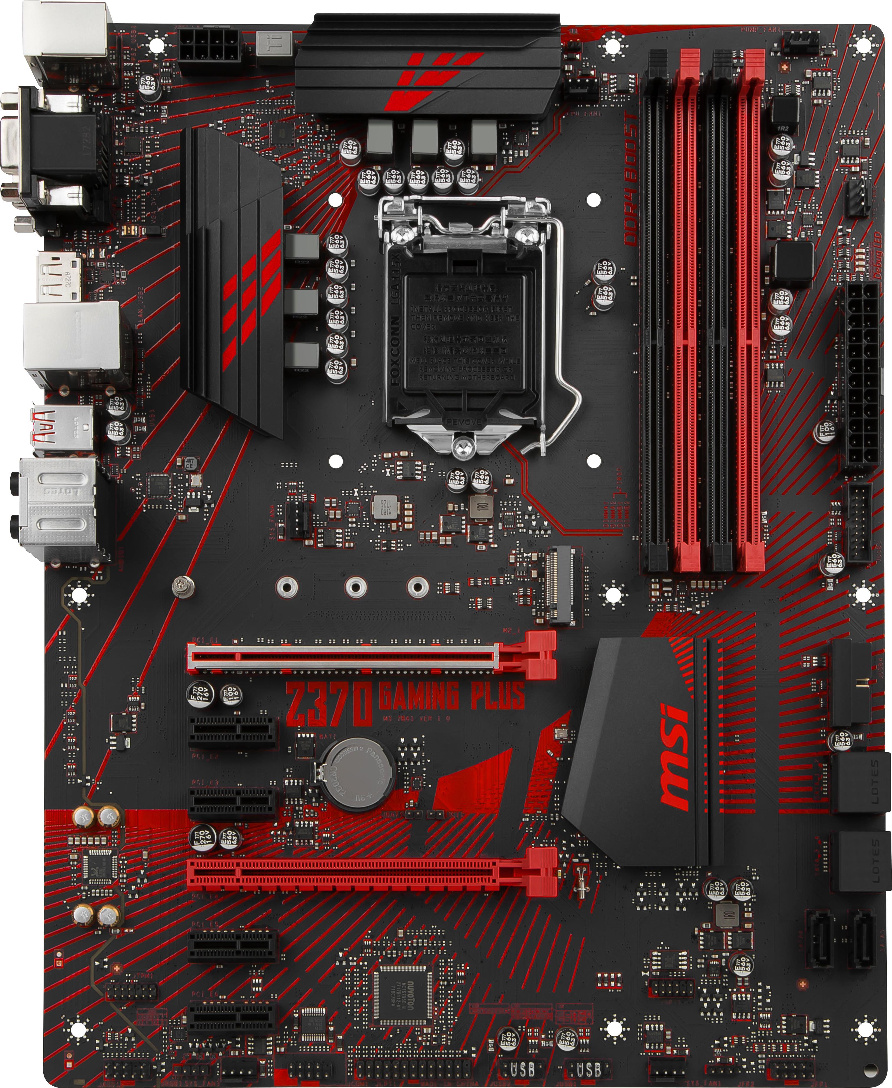 Arvostelut: MSI Z370 GAMING PLUS Intel Z370 LGA1151 ATX-emolevy – Intel LGA1151 (ATX) – Emolevyt – Komponentit – Verkkokauppa.com