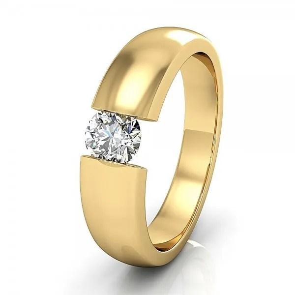 Spannring aus Gelbgold mit Diamant 04 ct  BREEDIA