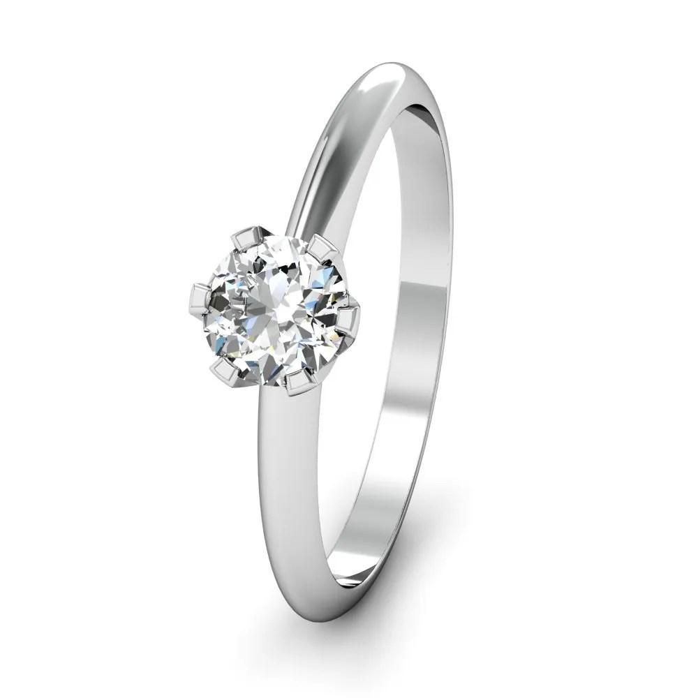 Klassischer Solitrring mit 03 ct Karat Diamant aus