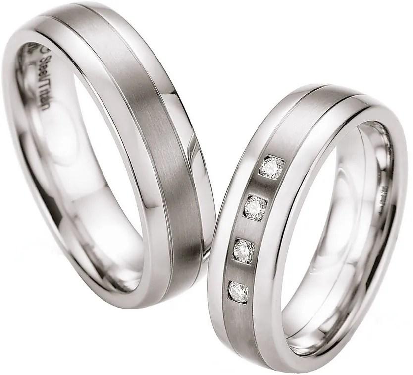 Titan Edelstahl Hochzeitsringe 68TS602B  BREEDIA
