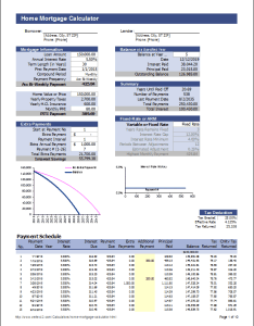 Screenshot also loan amortization schedule and calculator rh vertex