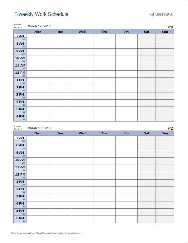 Make Weekly Work Schedules for Employees