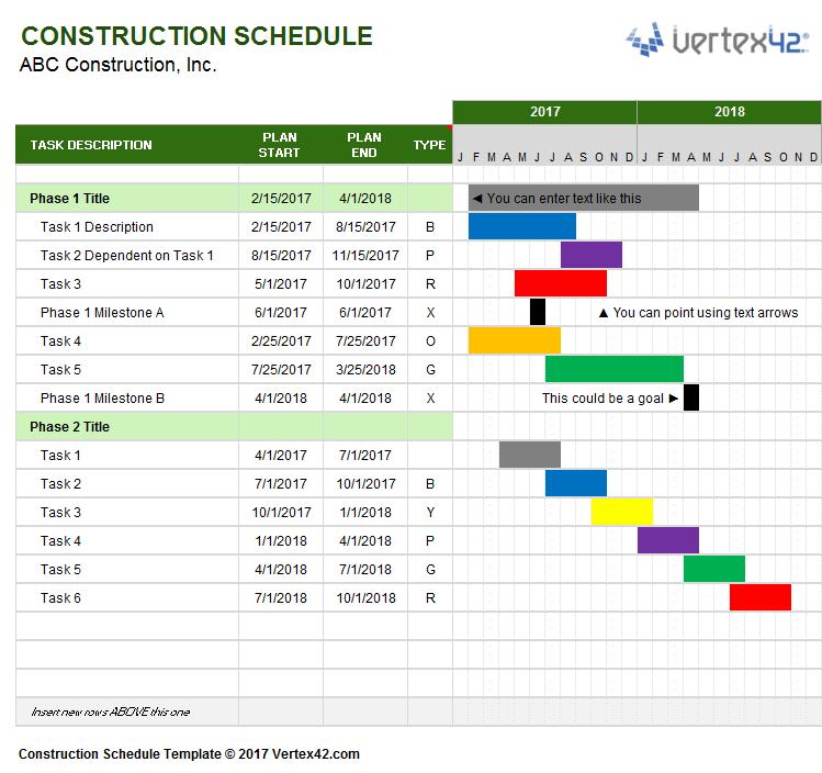 schedule in excel
