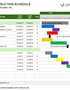 Construction schedule template also free gantt chart for excel rh vertex