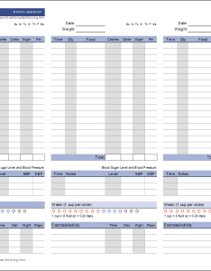 Food log template also printable daily rh vertex
