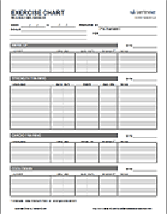 Exercise chart template also free workout printable weight lifting rh vertex