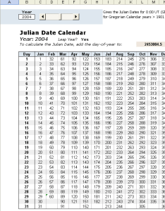 Julian date calendar also in excel rh vertex