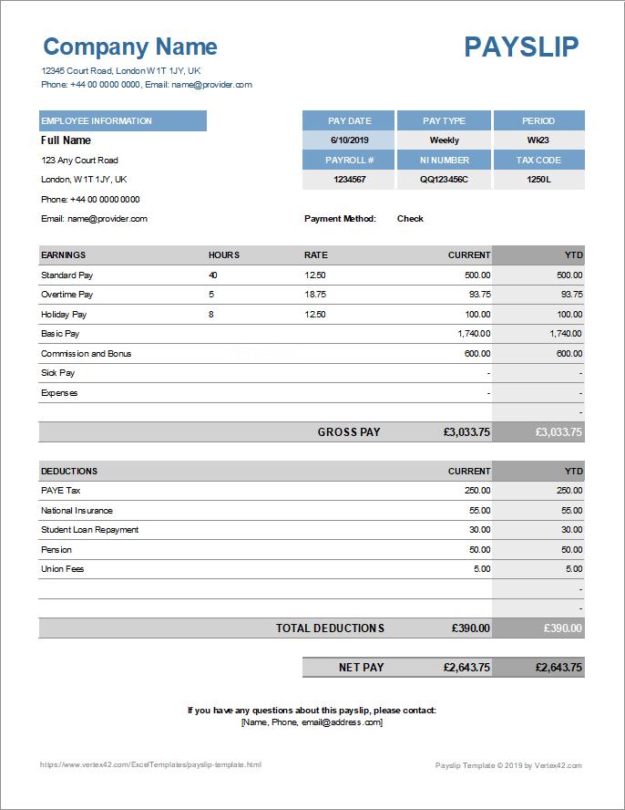 Download Slip Gaji Excel Otomatis : download, excel, otomatis, Payslip, Template, Excel, Google, Sheets