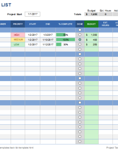 Project task list template also free templates for excel rh vertex