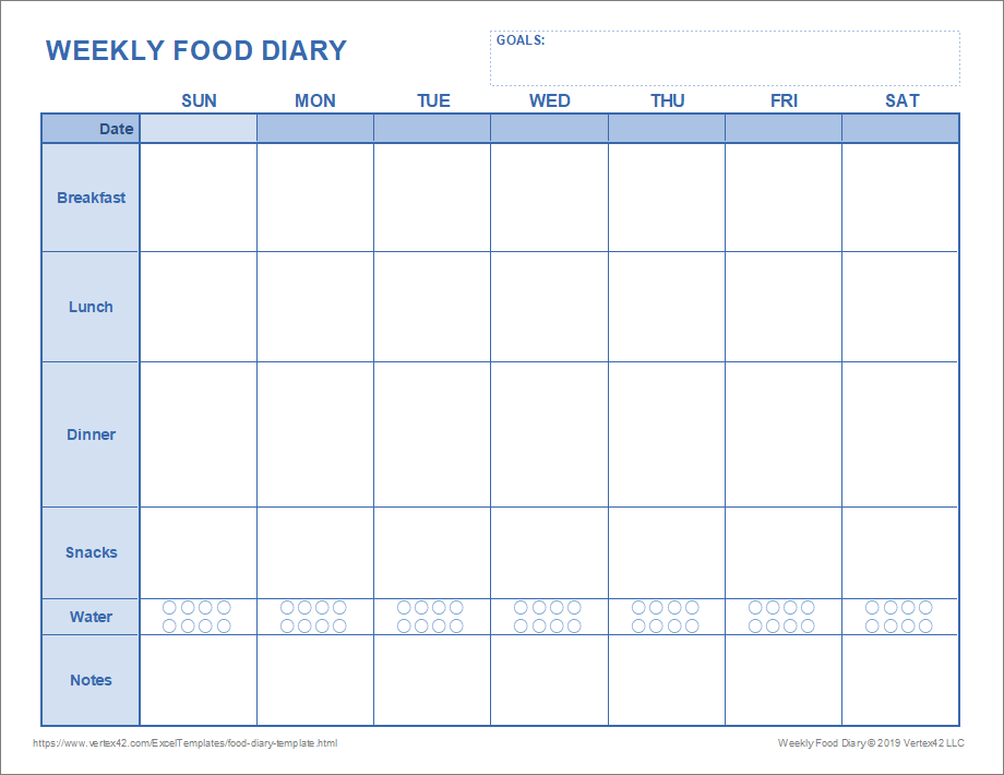 By alexa tucker pixdeluxe / getty images keeping a food diary is a great way to take a look at your eating habits includi. Food Diary Template Printable Food Journal