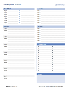 Weekly meal planner design also template menu rh vertex