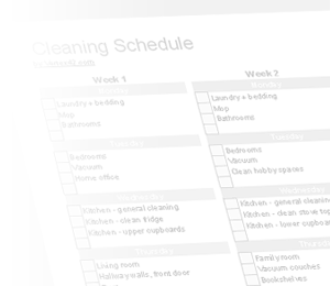 House Cleaning: House Cleaning Excel To Do List Template
