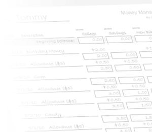 Money Management Worksheet for Kids