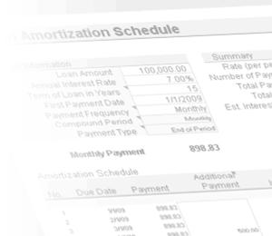amortization loan schedule excel