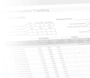 Vacation Accrual and Tracking Template with Sick Leave Accrual