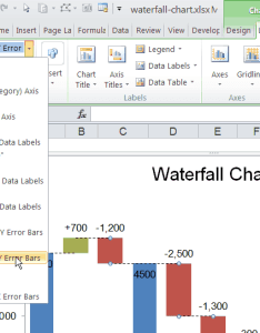 Chart element selection box in excel also waterfall template for rh vertex