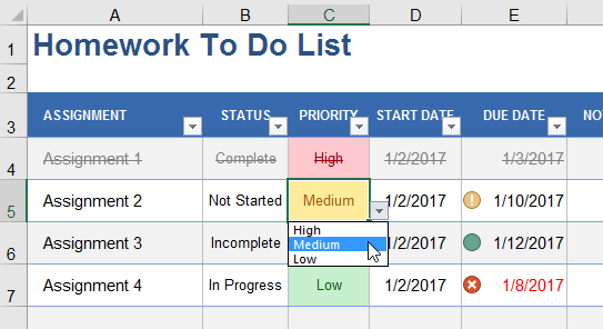 Create a Drop Down List in Excel