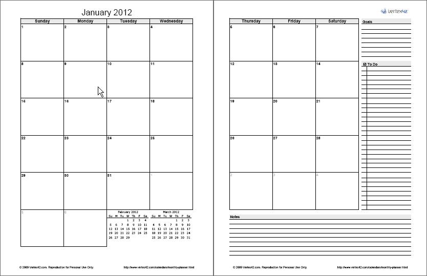 free calendars and calendar
