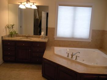 Double vanities,whirlpool, walkin shower masterbath