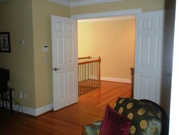 double door entry to masterbedroom retreat