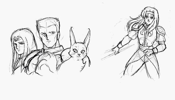 Sketch: Alis & Friends • Phantasy Star: Fringes of Algo