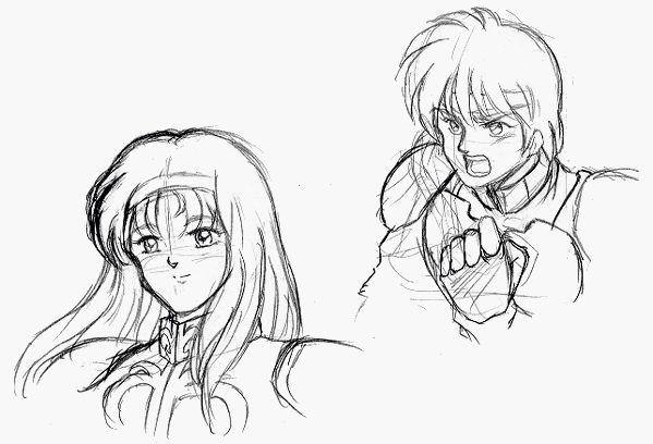 Sketch: Alis & Rolf • Phantasy Star: Fringes of Algo